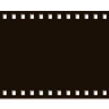 Film Strip Complete. Black on white background Royalty Free Stock Photo