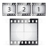 Film strip countdown. Vector illustration of a film countdown Royalty Free Stock Photos