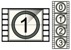 Film strip countdown. Illustration. Vector Royalty Free Stock Image