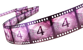 Film strip countdown. (clipping path and isolated on white Royalty Free Stock Image