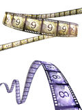 Film strip countdown. (clipping path and isolated on white Stock Photography