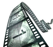 Film strip countdown. (clipping path and isolated on white Stock Photo
