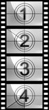 Film strip countdown texture. Cinema Royalty Free Stock Photos
