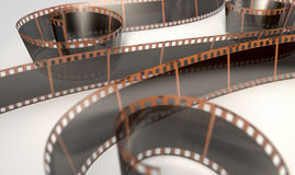 Film Strip Curled Royalty Free Stock Photography