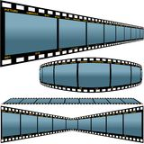 Film strip D. Detailed vector illustration Stock Images