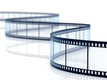 Film strip. 3d render of film strip on white background Stock Image