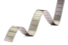 Film Strip, 3D rendering. On white background Stock Photos