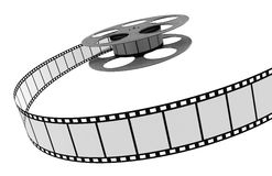 Film Strip. 3d Film Strip. White background. Digitally Generated Royalty Free Stock Photography