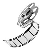 Film Strip. 3d Film Strip. White background. Digitally Generated Royalty Free Stock Photo