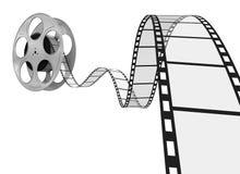 Film Strip. 3d Film Strip. White background. Digitally Generated Royalty Free Stock Photos