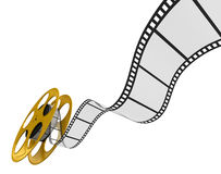 Film Strip. 3d Film Strip. White background. Digitally Generated Royalty Free Stock Image