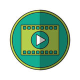 film strip design. Film strip icon. Cinema movie video film and media theme.  design. Vector illustration Royalty Free Stock Images