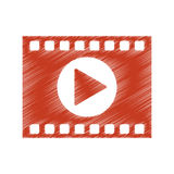 film strip design. Film strip icon. Cinema movie video film and media theme.  design. Vector illustration Royalty Free Stock Image