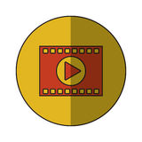 film strip design. Film strip icon. Cinema movie video film and media theme.  design. Vector illustration Stock Photo