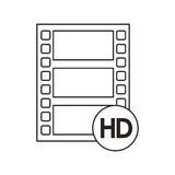film strip design. Film strip icon. Cinema movie video film and media theme.  design. Vector illustration Stock Images