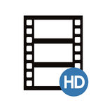 film strip design. Film strip icon. Cinema movie video film and media theme.  design. Vector illustration Stock Image