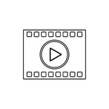 film strip design. Film strip icon. Cinema movie video film and media theme.  design. Vector illustration Royalty Free Stock Photography