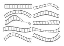 Film strip. Different film strip  illustration against a white background Royalty Free Stock Photos