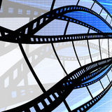 Film strip with digit background. Film industry concept Royalty Free Stock Photos