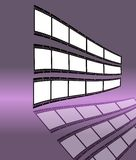 Film strip. With empty frames, free space for your pix Stock Image
