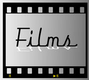 Film strip films frame Stock Images