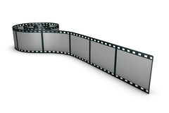 Film strip on the floor. 3d rendered film strip on white ground Stock Images