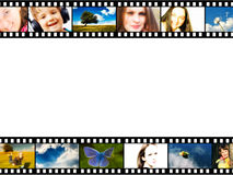 Film strip frame. With color photographs and copy space Stock Photo