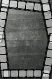 Film strip frame background. Grey vintage texture Royalty Free Stock Photo