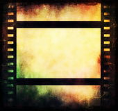 Film strip frame background. Old blank film strip frame background Stock Image