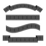 Film strip frame four set. Different shape ribbon. Design element. White background. Isolated. Flat. Vector illustration Royalty Free Stock Image