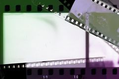 Film strip frame in green and purple tones. Stock Photos