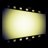 Film strip frame isolated on black. Background Royalty Free Stock Photos