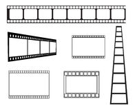 Film strip frame. Set of blank film strip frame in black Royalty Free Stock Image