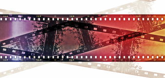 Film strip frame  on white Stock Photography
