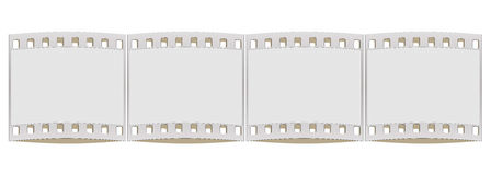 Film strip frame  on white. Illustration with blank film strip frame  on white Royalty Free Stock Photos