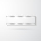 Film Strip. On a gray background Stock Images