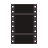 Film strip icon. Filmstrip icon. negative films over white background. vector illustration Royalty Free Stock Photo