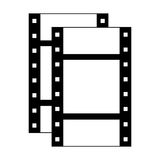 Film strip icon. Filmstrip icon. negative films over white background. vector illustration Royalty Free Stock Photos