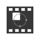 Film strip icon. Movie design. Vector graphic. Movie concept represented by film strip icon. isolated and flat illustration Royalty Free Stock Image