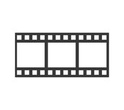 Film strip icon. Movie design. Vector graphic. Movie concept represented by film strip icon. isolated and flat illustration Royalty Free Stock Photos