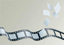 Film Strip. Illustration of frames float away from a strip of film Royalty Free Stock Image