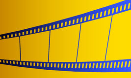 Film strip. Illustration of the film strip icon Stock Images
