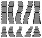 Film strip illustration for photography concepts. Set of several Stock Photography