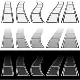 Film strip illustration for photography concepts. Set of several. Elements. - Royalty free vector illustration Royalty Free Stock Photo