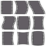 Film strip illustration for photography concepts. Set of several Royalty Free Stock Images
