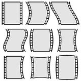 Film strip illustration for photography concepts. Set of several. Elements. - Royalty free vector illustration Stock Photography