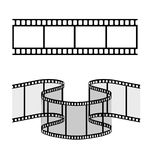 Film strip  illustration. With transparent  background Stock Image