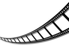 Film Strip. Image which can be used for a background or to input items within each square or above the graphic Stock Image