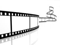 Film strip. Image on white background Stock Photography