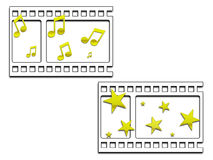Film strip images Stock Images